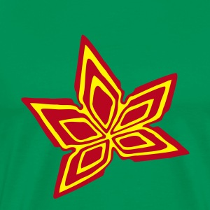 Grass green Cannabis Marijuana Leaf #3 Men's T-Shirts - Men's Premium T-Shirt