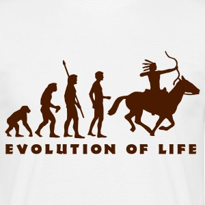 evolution_indianer_b T-shirts - Mannen T-shirt