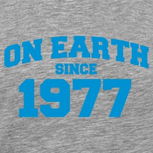 Grau meliert on earth 1977 T-Shirts - Männer Premium T-Shirt