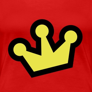 Rot Original Crown (2c, NEU) T-Shirts - Frauen Premium T-Shirt