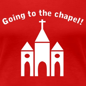 Donkerrood Going to the Chapel T-shirts - Vrouwen Premium T-shirt