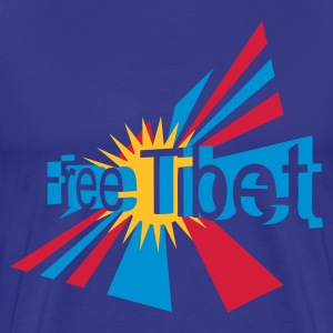 Royal blue free_tibet Men's T-Shirts - Men's Premium T-Shirt