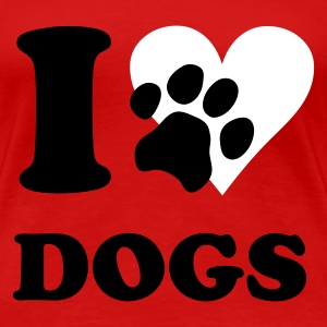 Rood I love dogs - hond, honden T-shirts - Vrouwen Premium T-shirt