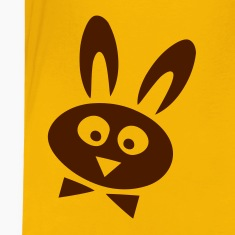 Yellow easter rabbit Kids' Shirts