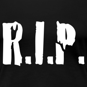 Schwarz r.i.p. rip rest in peace tod death dead T-Shirts - Frauen Premium T-Shirt