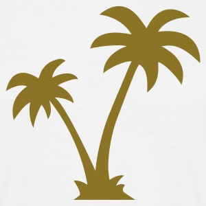 Sand beige Palm Trees Men's T-Shirts - Men's T-Shirt