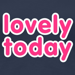 Jeansblau Lovely today © T-Shirts - Premium-T-shirt dam