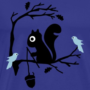 Diva blue Squirrel Men's T-Shirts - Men's Premium T-Shirt