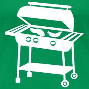 Kelly green Barbecue Grill T-Shirts - Frauen Premium T-Shirt