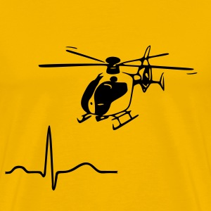Yellow Heartbeat - Rhythm -Sinusrhythm Men's T-Shirts - Men's Premium T-Shirt