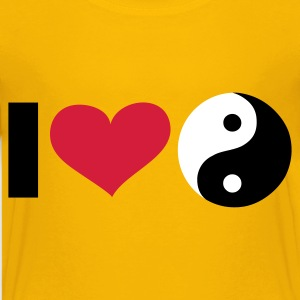 Gelb iI LOVE Yin and Yang / ☯ - eushirt.com Kinder T-Shirts - Teenager Premium T-shirt