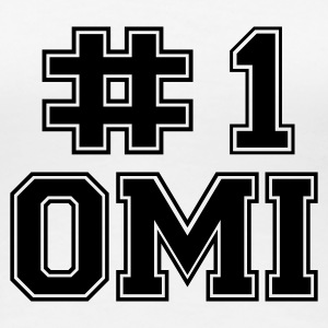 Weiß Number One Omi T-Shirts - Frauen Premium T-Shirt