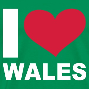 Kelly green I LOVE Wales - eushirt.com T-Shirts - Men's Premium T-Shirt