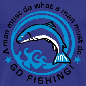 fishing_e_3c T-Shirts - Men's Premium T-Shirt