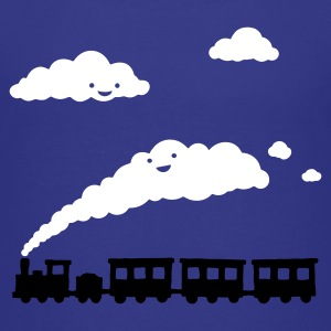 Cyan railway locomotive Kids' Shirts - Teenage Premium T-Shirt