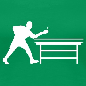 Kelly green table_tennis_a_1c T-Shirts - Frauen Premium T-Shirt
