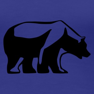 Royal blue bear_1c Women's T-Shirts - Women's Premium T-Shirt