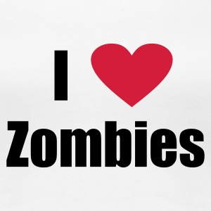 White i love zombies Women's T-Shirts - Women's Premium T-Shirt