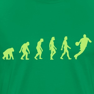 Bottlegreen Basketball Evolution 1 (1c) T-shirts - Mannen Premium T-shirt