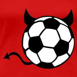 Red Soccer Devil Ball Women's T-Shirts - Women's Premium T-Shirt
