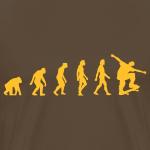 Brown Skateboarder Evolution 1 (1c) Men's T-Shirts - Men's Premium T-Shirt