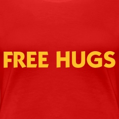 Red Free Hugs (1c) Women's T-Shirts