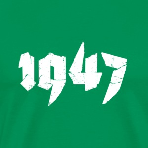 Kelly green Jahr 1947 Men's T-Shirts - Men's Premium T-Shirt