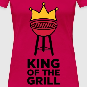 Light pink King of the Grill 1 (3c) T-shirts - Dame premium T-shirt