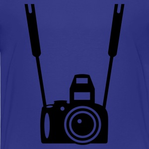 Cyan Photo Camera Kids' Shirts - Teenage Premium T-Shirt
