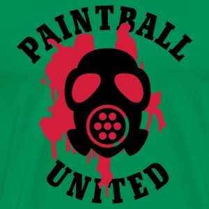 Khaki grün Paintball United - Mask © T-Shirts - Maglietta Premium da uomo