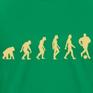 Kakigroen Football Soccer Evolution (1c) T-shirts - Mannen Premium T-shirt