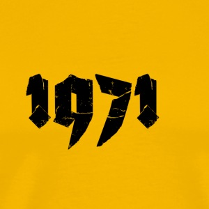 Yellow Jahr 1971 Men's T-Shirts - Men's Premium T-Shirt