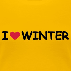 Gelb I Love Winter T-Shirts - Frauen Premium T-Shirt