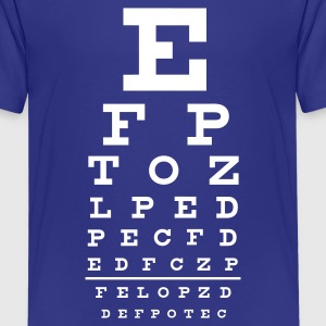 eye chart  - Teenager premium T-shirt