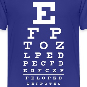 eye chart  - Teenage Premium T-Shirt