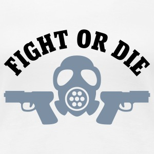 Weiß Paintball - Fight or die © T-Shirts - Frauen Premium T-Shirt