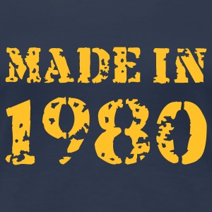 Jeansblau Made in 1980 T-Shirts - Frauen Premium T-Shirt