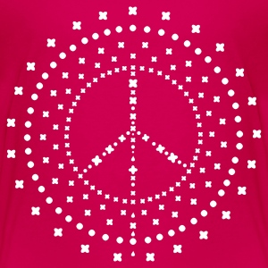 Pink peace_mandala Kinder T-Shirts - Teenager Premium T-Shirt