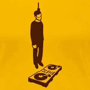 hang the dj  - Premium-T-shirt dam