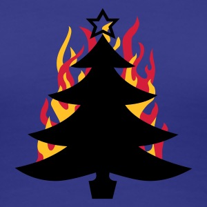 burning Xmas - Premium-T-shirt dam