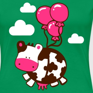 flying cow - Women's Premium T-Shirt