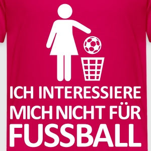 Pink Fußball - kein Interesse Kinder T-Shirts - Teenager Premium T-Shirt