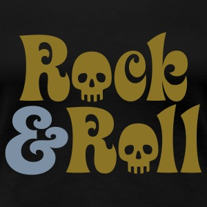 Schwarz Rock & Roll T-Shirts - Frauen Premium T-Shirt