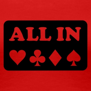 Stereo rot Poker - All in T-Shirts - Frauen Premium T-Shirt