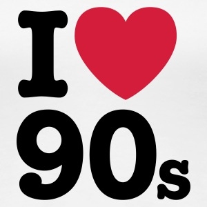 Wit I love the 90's T-shirts - Vrouwen Premium T-shirt