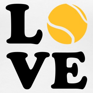 Weiß Love Tennis T-Shirts - Frauen Premium T-Shirt