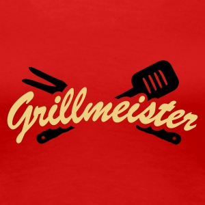 Stereo rot Grillmeister T-Shirts - Frauen Premium T-Shirt
