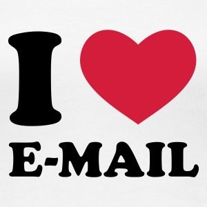 Weiß I Love E-Mail T-Shirts - Frauen Premium T-Shirt