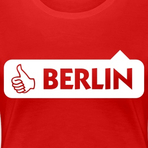Rouge foncé Berlin Thumbs Up (1c) T-shirts - T-shirt Premium Femme