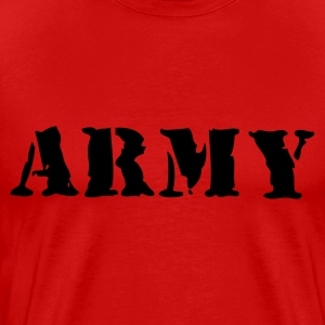 Bourgognerood army T-shirts - Mannen Premium T-shirt